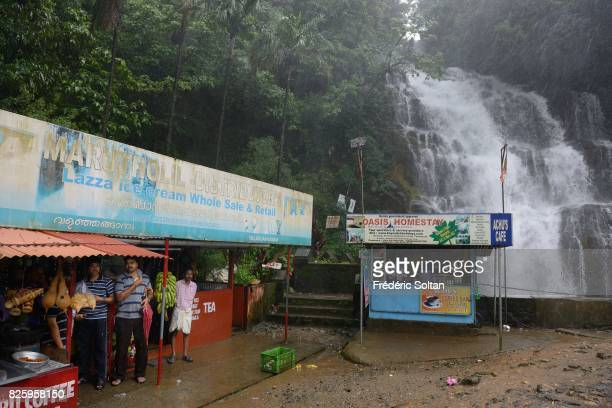 Falls in the Western Ghats of Kerala during the monsoon season on july 19 2016 in India