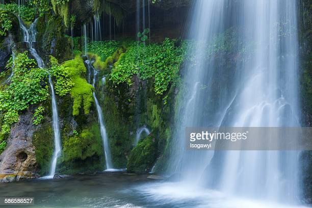 falls of green - isogawyi stock pictures, royalty-free photos & images