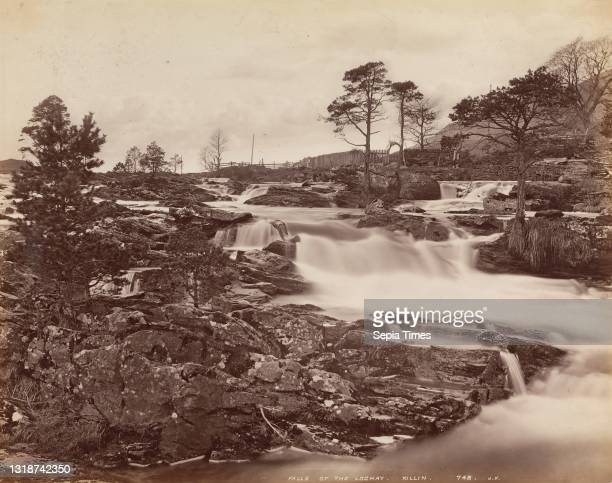 Falls of the Lochay, Killin, James Valentine, 1815–1879, British, 1870s, Albumen print from wet collodion negative on thin, smooth, cream wove paper,...