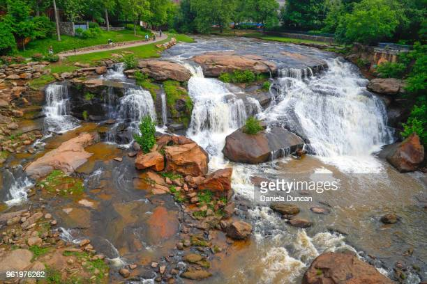 falls park in greenville - greenville south carolina stock pictures, royalty-free photos & images