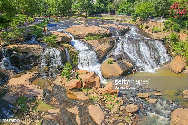 falls park - greenville south carolina stock photos and pictures