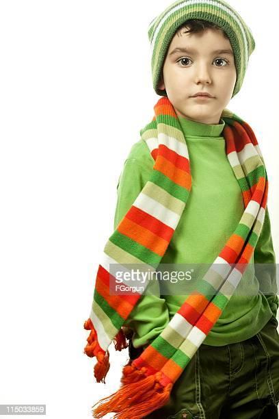 retratos de outono-inverno-menino - echarpe - fotografias e filmes do acervo