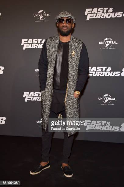 Fally Ipupa attends 'Fast Furious 8' Premiere at Le Grand Rex on April 5 2017 in Paris France
