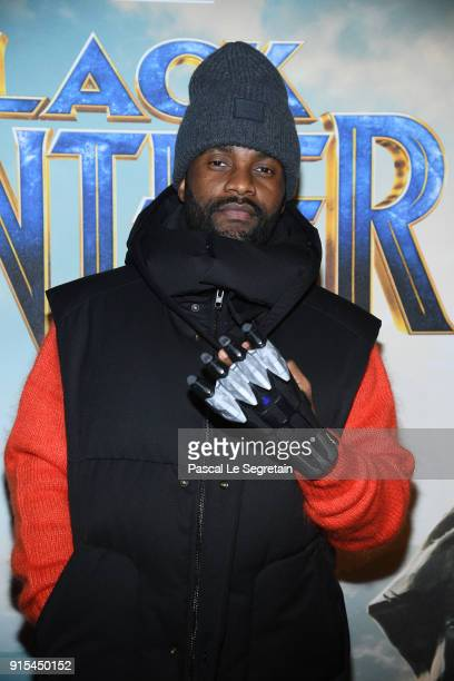 Fally Ipupa attends the 'Black Panther' Paris Special Screening at Le Grand Rex on February 7 2018 in Paris France