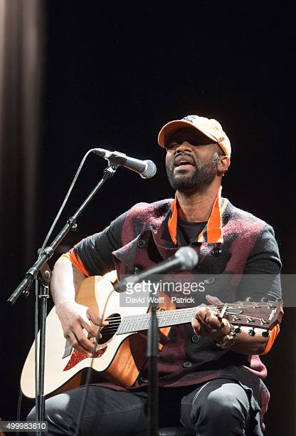 Fally Ipupa performs during Pathway to Paris at Le Trianon on December 4 2015 in Paris France