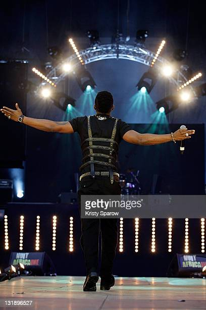 Fally Ipupa performs on stage during the 'Nuit Africaine' concert at Stade de France on June 11 2011 in Paris France