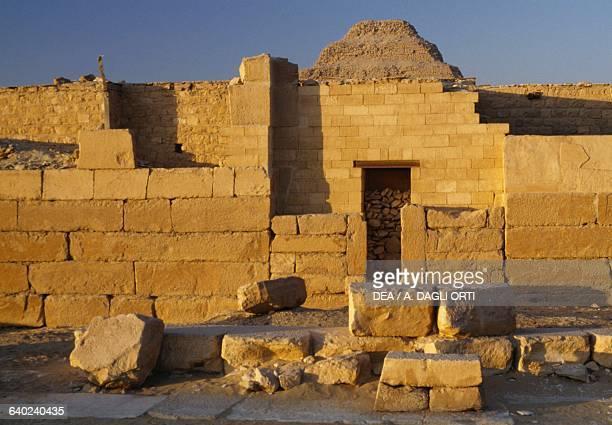 False door Pyramid Complex of Djoser at Saqqara Memphis Egypt Egyptian civilisation Old Kingdom Dynasty III