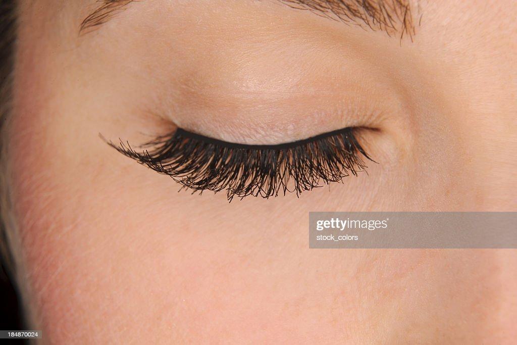 false eyelashes : Stock Photo