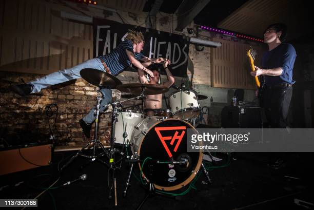 False Heads with Luke Griffiths on vocals and guitar Jake Elliott on bass and Barney Nash on vocals and drums perform at the Soup Kitchen on March 20...
