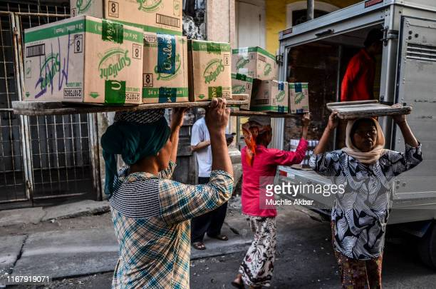 famale workers - east java province stock pictures, royalty-free photos & images