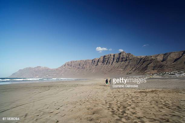 'Famara' beach (Lanzarote. Canary Islands. Spain)