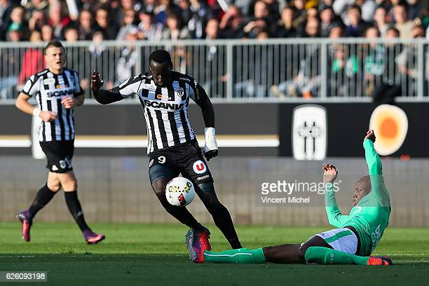 Famara Diedhiou of Angers during the French Ligue 1 match between Angers and Saint Etienne on November 27 2016 in Angers France
