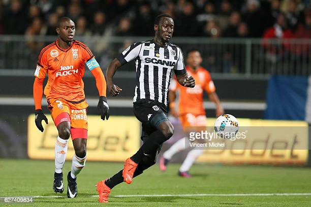 Famara Diedhiou of Angers during the Ligue 1 match between Angers SCO and FC Lorient on December 3 2016 in Angers France