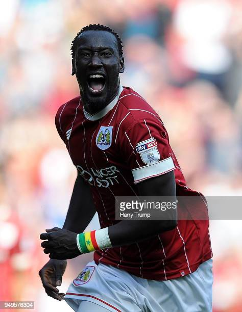 Famara Diedhiou of Bristol City celebrates as he scores his sides second goal during the Sky Bet Championship match between Bristol City and Hull...