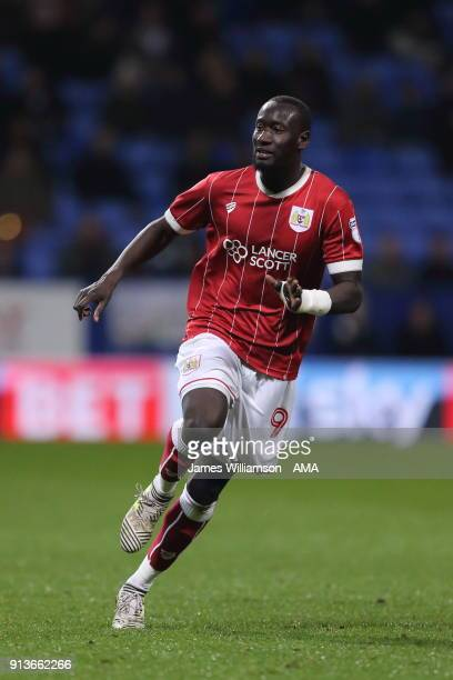 Famara Diedhiou of Bristol City during the Sky Bet Championship match between Bolton Wanderers and Bristol City at Macron Stadium on February 2 2018...