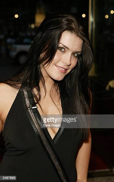 """Fame Academy contestant Carolynne attends the UK charity premiere of """"The Italian Job"""" at the Empire Leicester Square September 15, 2003 in London,..."""