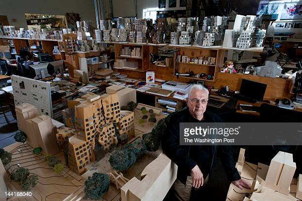 Famed architect Frank Gehry poses for a portrait at Gehry Partners LLP on Tuesday April 10 2012 in Los Angeles CA Gehry has created a design for a...