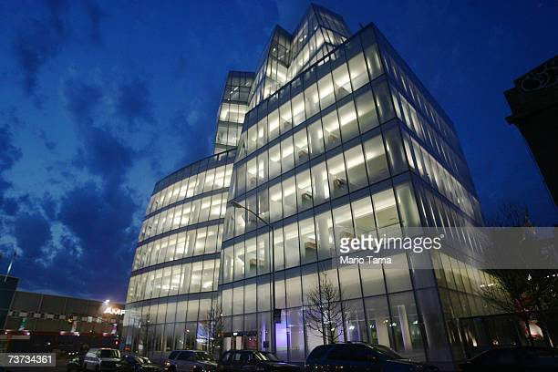 Famed architect Frank Gehry's first New York building, the IAC Building, is shown March 26, 2007 in New York City. The building, still not totally...