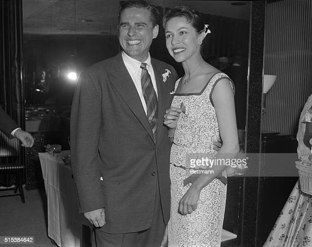 Famed ballerina Maria Tallchief is shown with her husband of a few moments Henry 'Buzzy' Paschen Jr