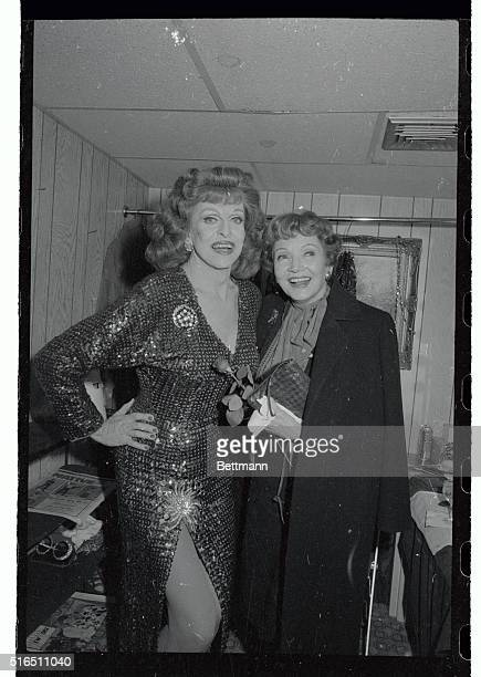 Famed female impressionist Charles Pierce who impersonates the great ladies of the screen was overjoyed when veteran actress Claudette Colbert...