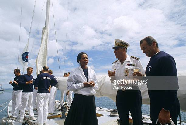Famed French sailor Eric Tabarly retires from the French Naval School today | Location Lanveoc Poulmic France