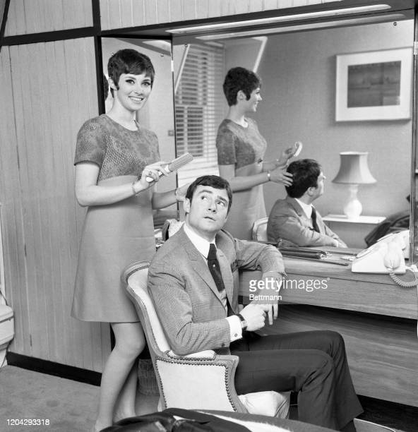 Famed hairstylist Vidal Sassoon has the tables turned on him by his bridetobe actress Beverly Adams They met in London when she went to his Bond...