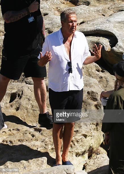 Famed photographer Mario Testino pictured during a photoshoot on Bondi Beach on January 20 2016 in Sydney Australia