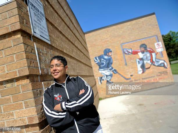 Famed retired female hockey star Angela James is shown at the Flemingdon Park arena in the Eglinton and Don Mills area which was renamed in her...