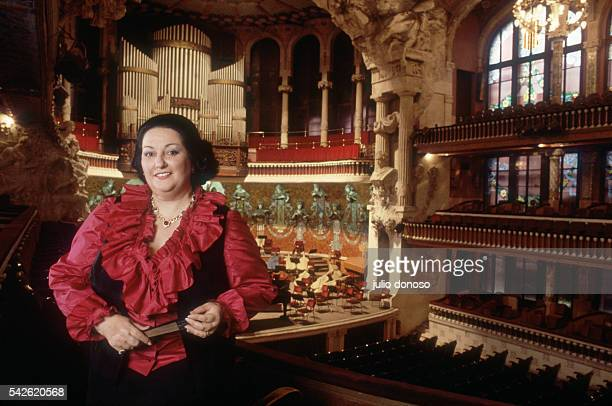 Famed soprano Montserrat Caballe stands in the Palau de la Musica in Barcelona. | Location: Barcelona, Spain.