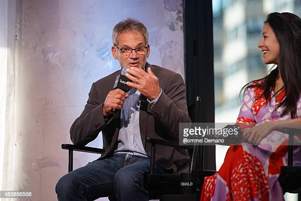 Famed Writer and mountaineer Jon Krakauer and CoDirector Elizabeth Chai Vasarhelyi attend AOL BUILD Presents MERU at AOL Studios In New York on...