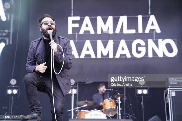 Familia Caamagno performs on stage during the last day of O Son do Camino Festival on June 14, 2019 in Santiago de Compostela, Spain.