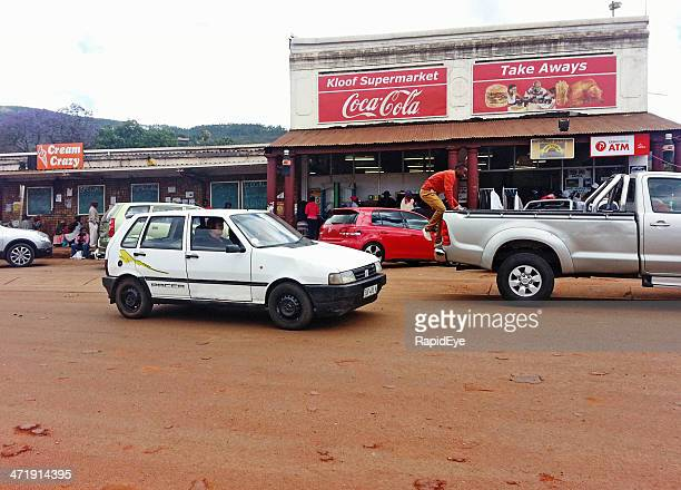 familiar coca-cola sign in tiny, remote south african town - limpopo province stock pictures, royalty-free photos & images