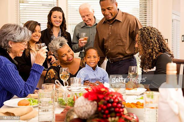 Families: Family, friends gather for Christmas Dinner or holiday party