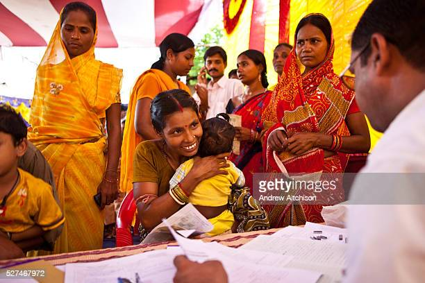 Families from the Dobhanda Nagar slum in Cuttack get legal advice and birth certificates from the Urban Law centre run by the organisation CLAP...