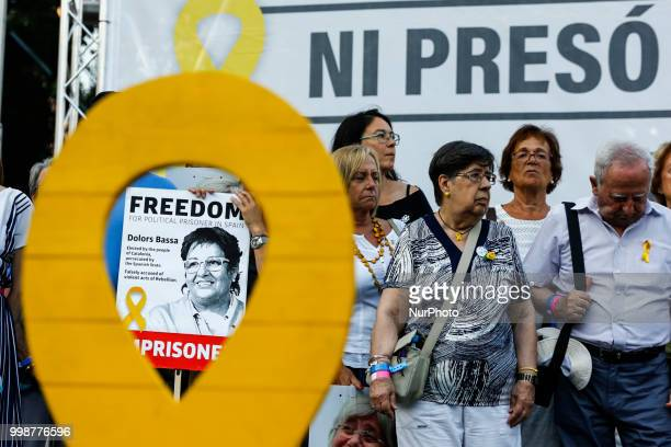 Families of political prisoners of Calara Ponsati during the demonstration of Independence political parties and independence assosiations against...