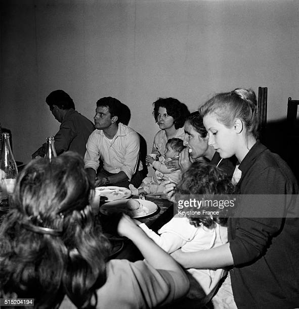 Families Of Repatriated People From Algeria Occupy Former Brothel 'Le Sphinx' in Paris France on August 10 1962