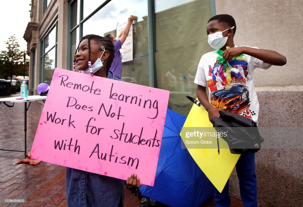Families Protest To Allow Kids With Special Needs Back In Schools : News Photo