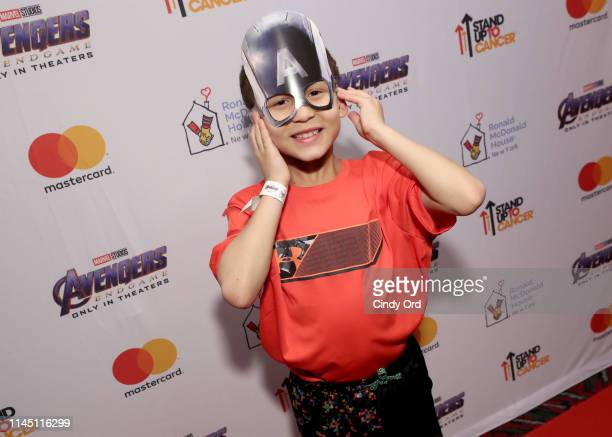 Families staying at Ronald McDonald House New York attend a private screening of Marvel Studios' Avengers Endgame hosted by Marvel Studios Stand Up...