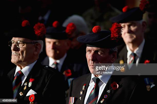 Families, veterans and soldiers from The Black Watch 3rd Battalion the royal Regiment of Scotland, attend a memorial service at the Black Watch...