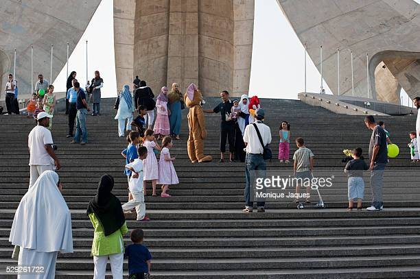 Families visit the Sanctuary of the Martyr a national monument dedicated to those who died in the Algerian war in Algeria