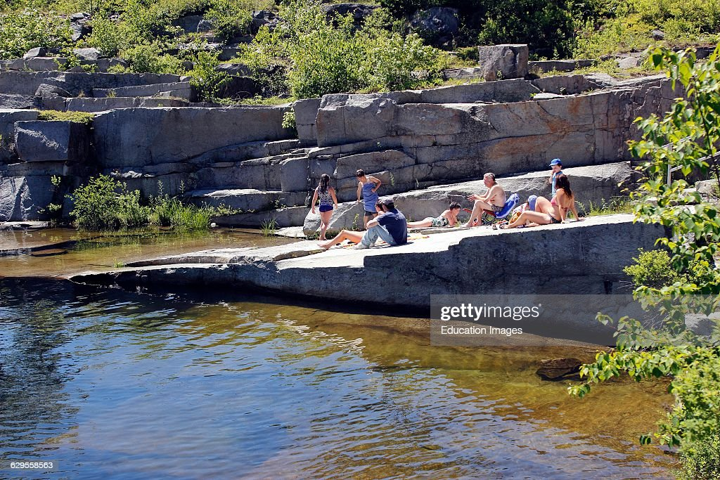 Families With Children At Granite Quarry Swimming Hole