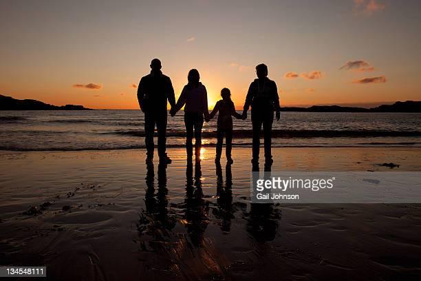Familiy on beach