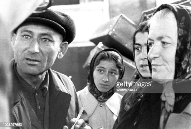 Famille émigrée juive d'URSS à Vienne Autriche en octobre 1973