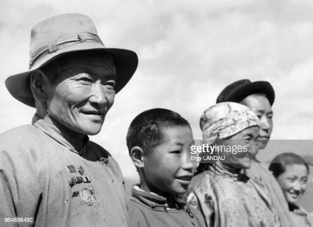 Famille mongole Mongolie