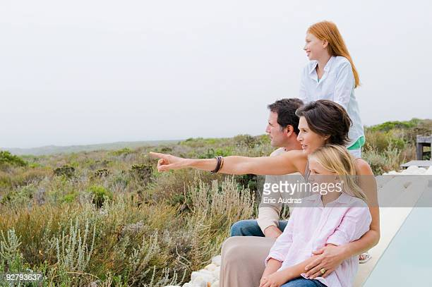 Family admiring the view