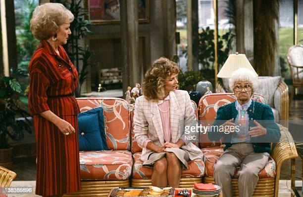 GIRLS Family Affair Episode 7 Pictured Betty White as Rose Nylund Marilyn Jones as Bridget Nylund Estelle Getty as Sophia Petrillo