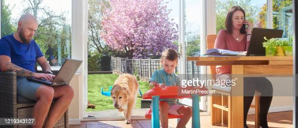 family all working from home and homeschooling - women photos stock pictures, royalty-free photos & images