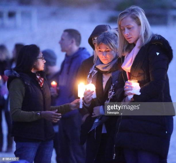 SYDNEY NSW Family and friends attend a sunrise vigil for Justine Damond on Freshwater beach in Sydney New South Wales Justine Damond was killed by a...