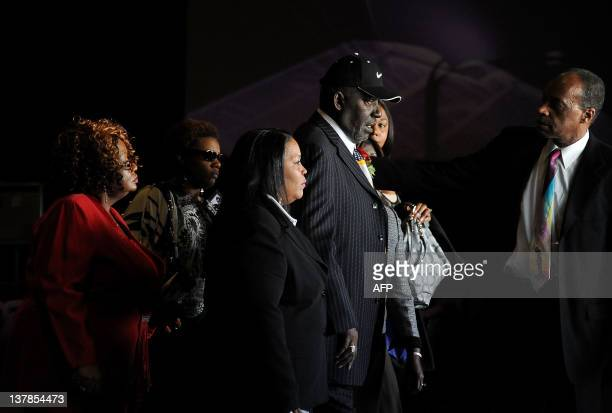 Family and friends attend the Etta James' funeral 2012 in Gardena California on January 28 2012 AFP PHOTO/VALERIE MACON