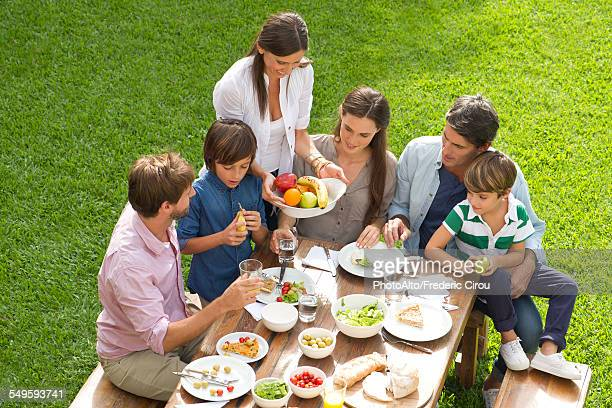 Family and friends gather for picnic